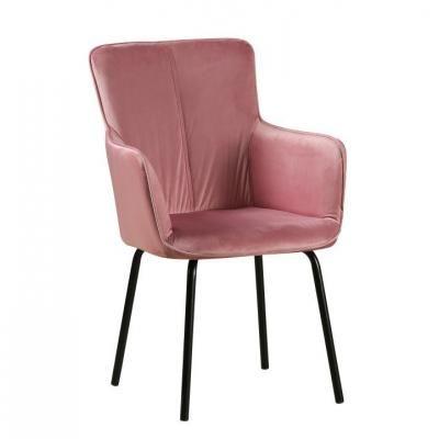 Karfás bársony szék, mélyrózsaszín - SISSIE